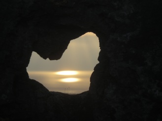 Sunset at Blackhead. The Burren