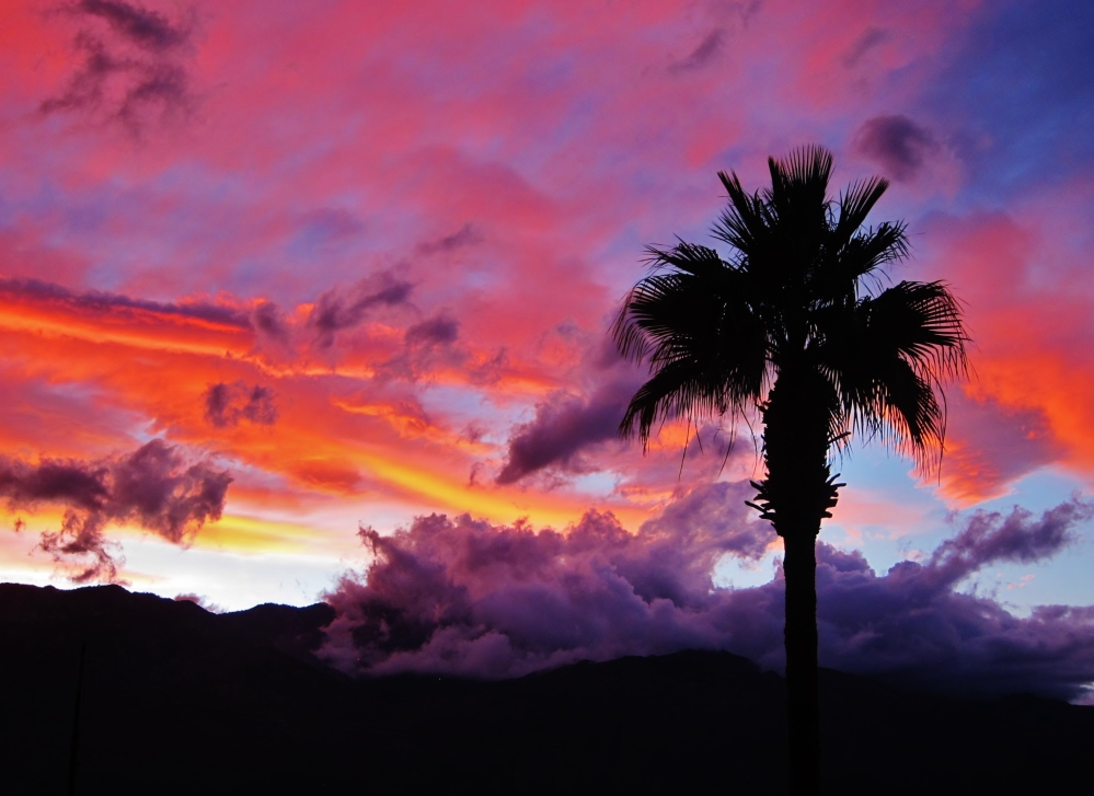 Palm Spring Sunset against Jacinta Mountain